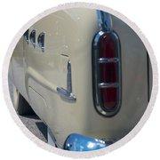 52 Packard Convertible Tail Round Beach Towel