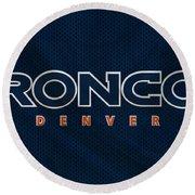 Denver Broncos Round Beach Towel