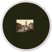 Landscape Of Ancient Greece Round Beach Towel