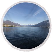 Alpine Lake Round Beach Towel