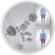 Exercise Workout Round Beach Towel