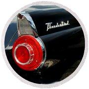 56 Ford Thunderbird Round Beach Towel