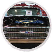 '57 Chevy Bel Air Show Car Round Beach Towel