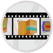 57 Contact Strip Round Beach Towel