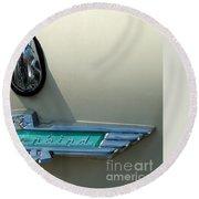 57 Ford Thunderbird  Round Beach Towel
