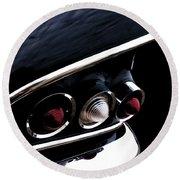 '58 Chevy Impala Fin Round Beach Towel