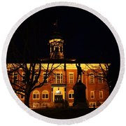5am At Port Hope Town Hall Round Beach Towel