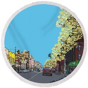 5th Ave And Garfield Park Slope Brooklyn Round Beach Towel