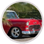 1955 Chevrolet 210 Round Beach Towel