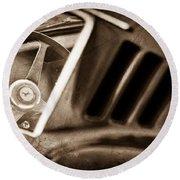 1966 Ferrari 275 Gtb Steering Wheel Emblem Round Beach Towel