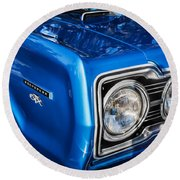 1967 Plymouth Belvedere Gtx 440 Painted  Round Beach Towel