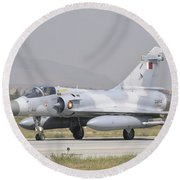 A Qatar Emiri Air Force Mirage 2000 Round Beach Towel