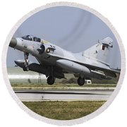 A Qatar Emiri Air Force Mirage Round Beach Towel