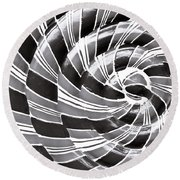 Abstract Pattern Round Beach Towel