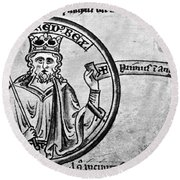 Alfred The Great (849-899) Round Beach Towel