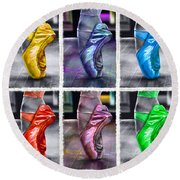 6 Ballerinas Dancing Round Beach Towel