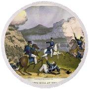 Battle Of Monterrey, 1846 Round Beach Towel