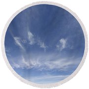 Big Blue Sky Round Beach Towel