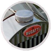 Bugatti Type 57 Round Beach Towel