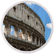 Colosseum - Rome Italy Round Beach Towel
