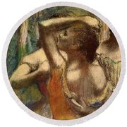 Dancers Round Beach Towel by Edgar Degas
