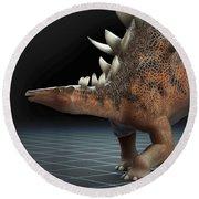 Dinosaur Kentrosaurus Round Beach Towel