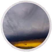 Excellent Severe T-boomers South Central Nebraska Round Beach Towel