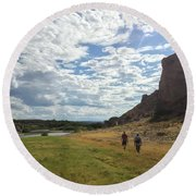 Exploring Big Bend National Park Round Beach Towel