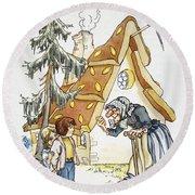 Grimm: Hansel And Gretel Round Beach Towel