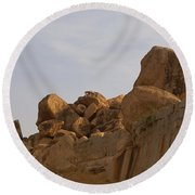 Hampi Landscape Round Beach Towel