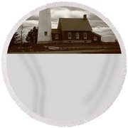Lighthouse - Tawas Point Michigan Round Beach Towel