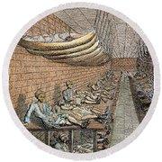London: Debtors Prison Round Beach Towel