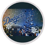Los Angeles Dodgers Round Beach Towel