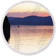 Mono Lake California Round Beach Towel