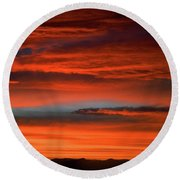 Nevada Skies Round Beach Towel