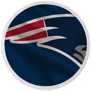New England Patriots Uniform Round Beach Towel