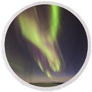 Northern Lights Iceland Round Beach Towel