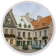 Old Town Quebec - Canada Round Beach Towel