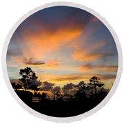 Outer Banks North Carolina Sunset Round Beach Towel