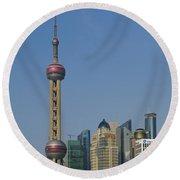 Pudong Skyline Round Beach Towel
