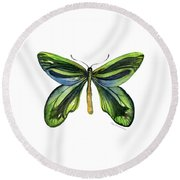 6 Queen Alexandra Butterfly Round Beach Towel