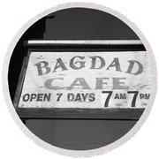 Route 66 - Bagdad Cafe Round Beach Towel by Frank Romeo