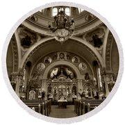 Saint Marys Orthodox Cathedral Round Beach Towel