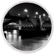 Southwark Bridge London Round Beach Towel