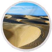 Sunrise At Oceano Sand Dunes Round Beach Towel