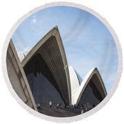 Sydney Opera House Detail In Australia  Round Beach Towel