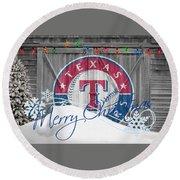 Texas Rangers Round Beach Towel
