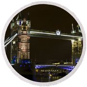Tower Bridge London Round Beach Towel
