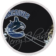 Vancouver Canucks Round Beach Towel
