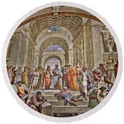 Vatican Art Round Beach Towel